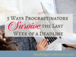 Blue Ridge Conference, survive deadlines