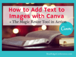 Add Text to Images with Canva